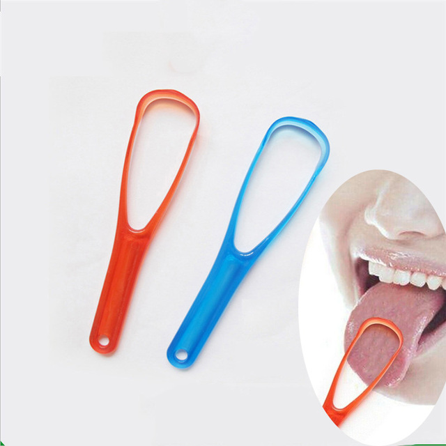 1 Pieces Double Sized Tongue Cleaner Scraper Practical Tongue Cleaning Brush For Dental Oral Care Keep Fresh Breath Dental Care