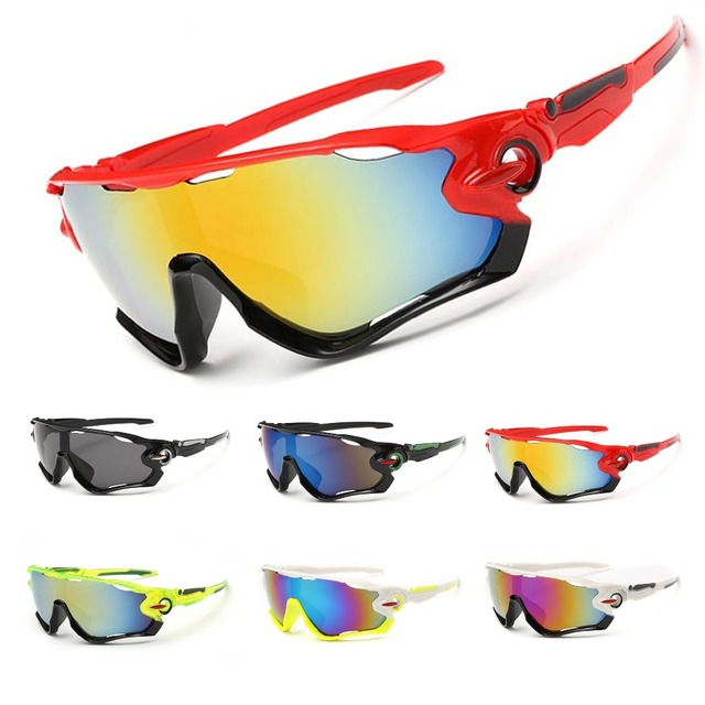 824a0e2d849 OBAOLAY New Design Big Frame Colorful Lens Sunglasses Outdoor Sports  Cycling Bike Goggles Motorcycle Eyewear Bicycle Sun Glasses