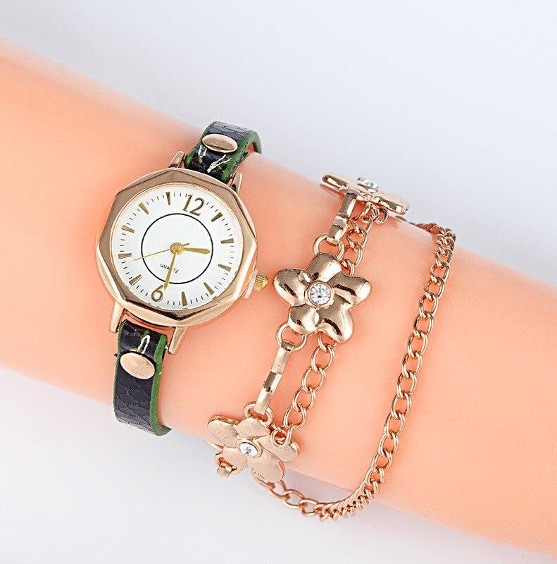 Luxury font b Women s b font Leopard Bracelet font b Watches b font Quartz Wristwatches