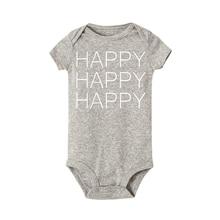 f43f39c52 Happy Happpy Happy Letter Bodysuits Newborn Baby Letter Onesie Infant Babies  Funny Cotton Bodysuit One-