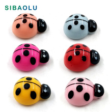 6pcs Colorful Ladybugs Fridge magnet cartoon Animal whiteboard Resin Refrigerator Magnets child Home DIY Decoration Acessories