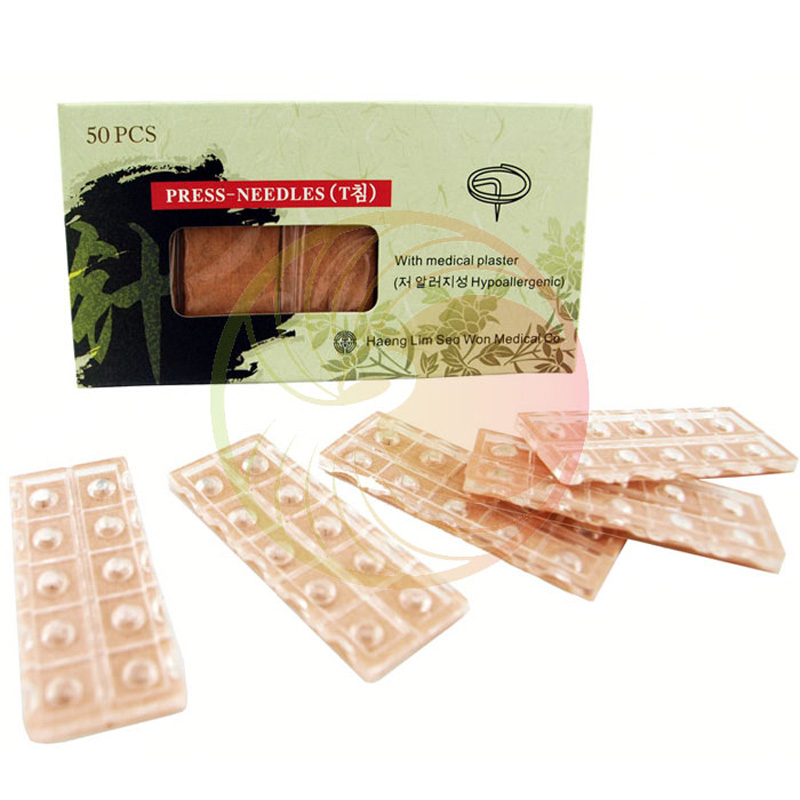 50 Stick each box Sterile disposable sterile ear press needles auricular acupuncture nee ...