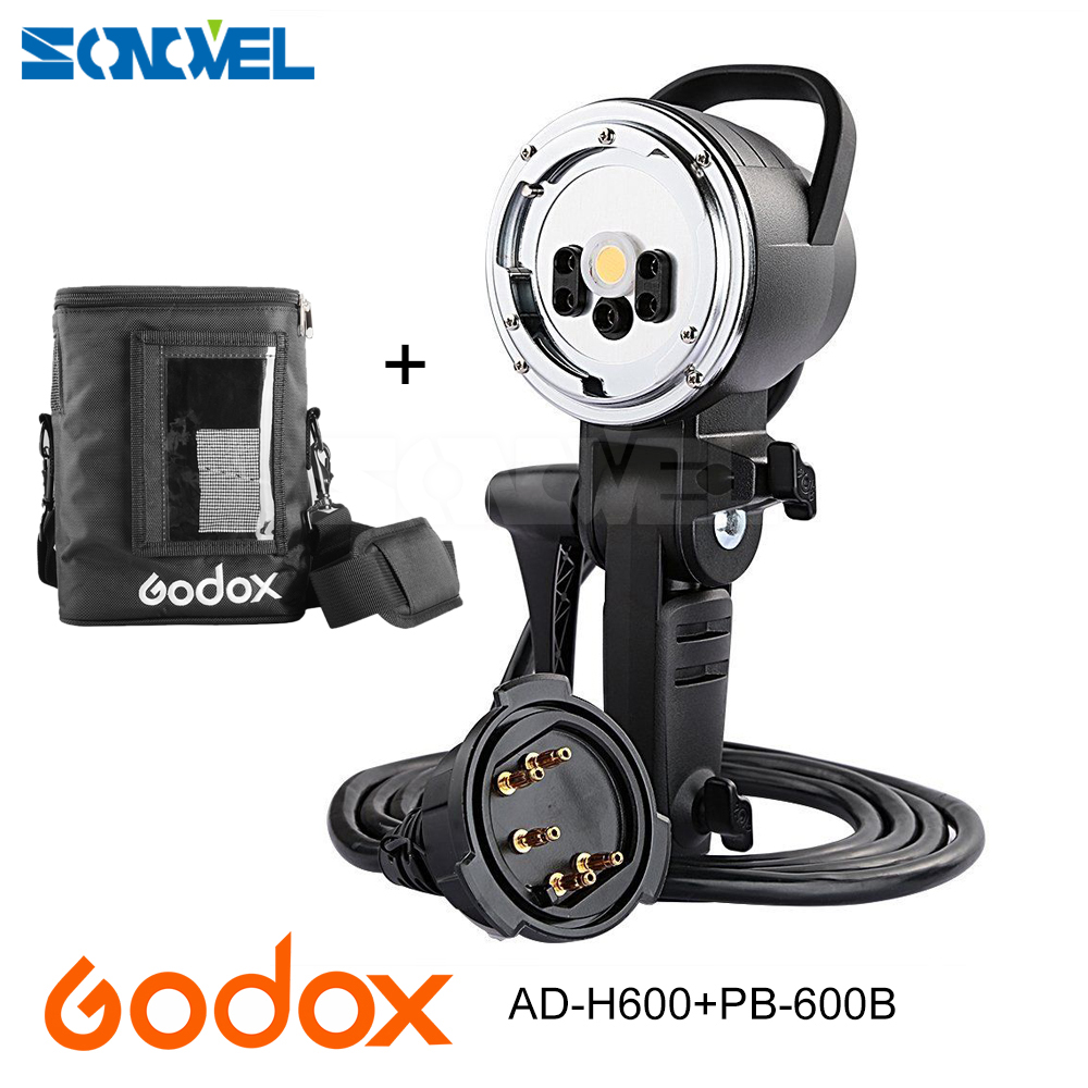 Godox AD-H600B Hand-Held Extension Head + PB-600B Carry Portable bag For Godox AD600B/AD600BM Wireless Strobe Flash (BowenMount) bta212 600b to 220