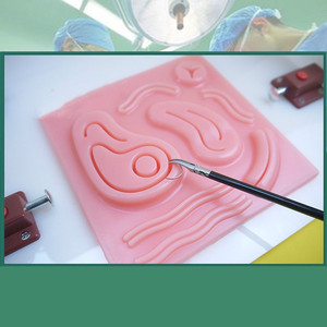 Image 4 - 3D Lifelike simulator for training laparoscope  surgical suture  skin kit model medical training simulators Suture Practice  pad