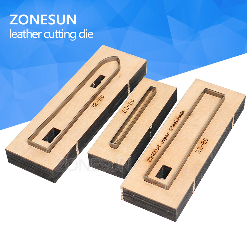 ZONESUN 22-20 Customized leather cutting die Leather DIY Craft supply watchband strap Wooden Template Punching Cutting Mould diy oval lace window embossed mould carbon steel cutting die