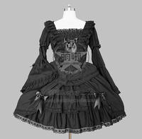 Lolita Dress Gothic Lolita Francaise Punk Cosplay Costume With Lace And Off Shoulder Decorated Fast Shipping For Halloween