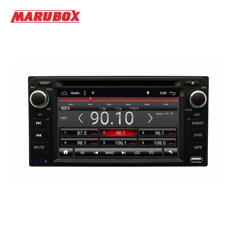 Marubox 6A100DT3 Android 7.1 Quad Core Voiture DVD GPS Radio Pour Toyota Universel RAV4/Corolla/HILUX/Terre cruiser/Prado/Fortuner