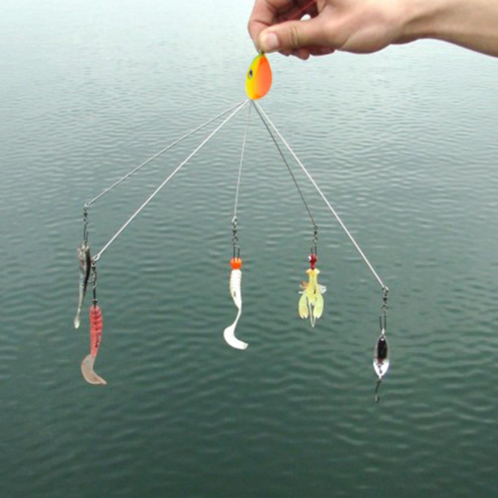 5pcs 21cm 8 umbrella rig bait fishing lure tackle leader for Umbrella rig fishing