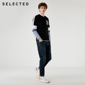 Image 3 - Выбранные мужские джинсы из лайкры легкий стрейч винтажный Тонкий Осень и зима подходят джинсовые брюки уличная эффект усов S
