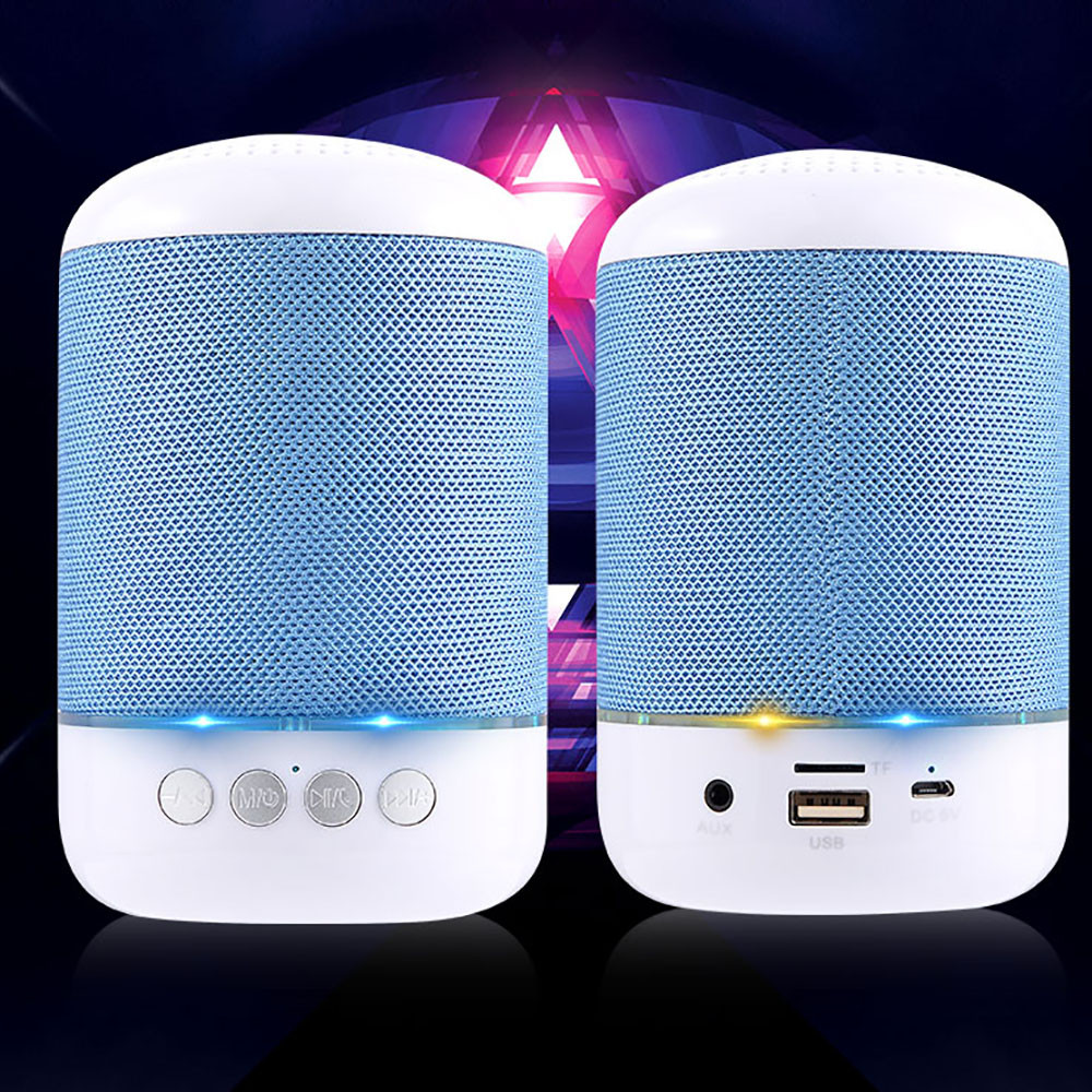 TG115 New Super Bass Mini Portable Bluetooth Handsfree Wireless Speaker Hands-free Music Speaker MP3 Loudspeaker With LED Light
