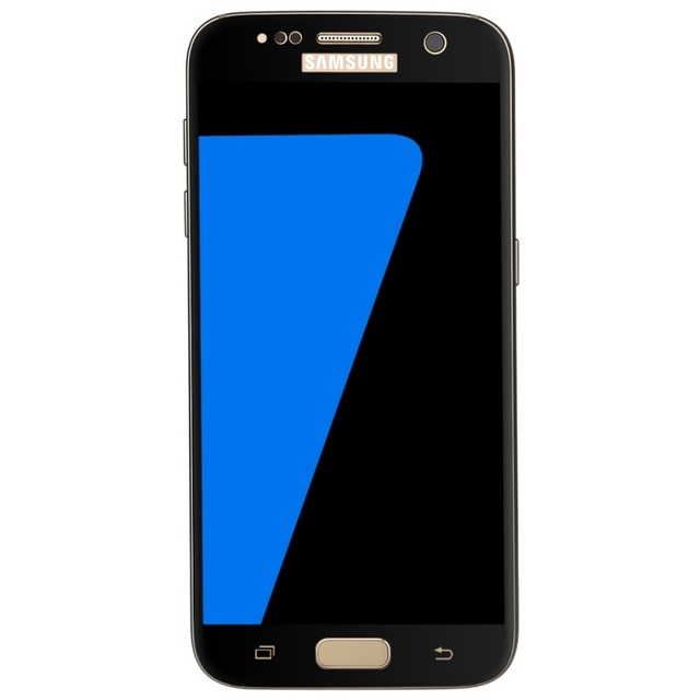 for Galaxy S7 Screen Protectors Silk Printing 0.3mm Arc Tempered Glass Film for Samsung Galaxy S7 G930 - Black