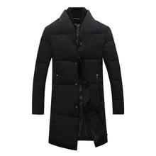2017 Top Quality Warm Men's Warm Jacket Windproof Casual Outerwear Thick Medium Long Coat Men Parka