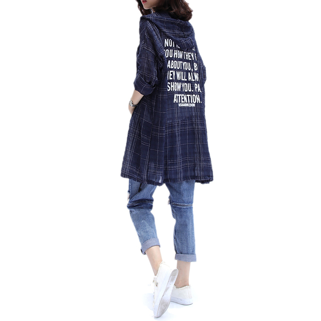 Plus Size 4XL 2018 Summer Women Fashion Elegant Plaid Letter Bolero Tops Ladies Female Big Cotton Linen Thin Outwear Jacket Coat 4