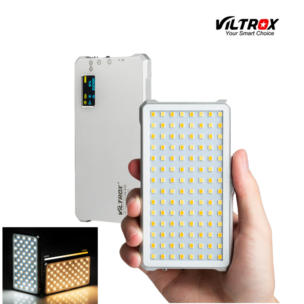 VILTROX FA D10 Mini Bi color Video LED Light Portable Fill Light Photography Light for Phone Camera shooting Studio YouTube live