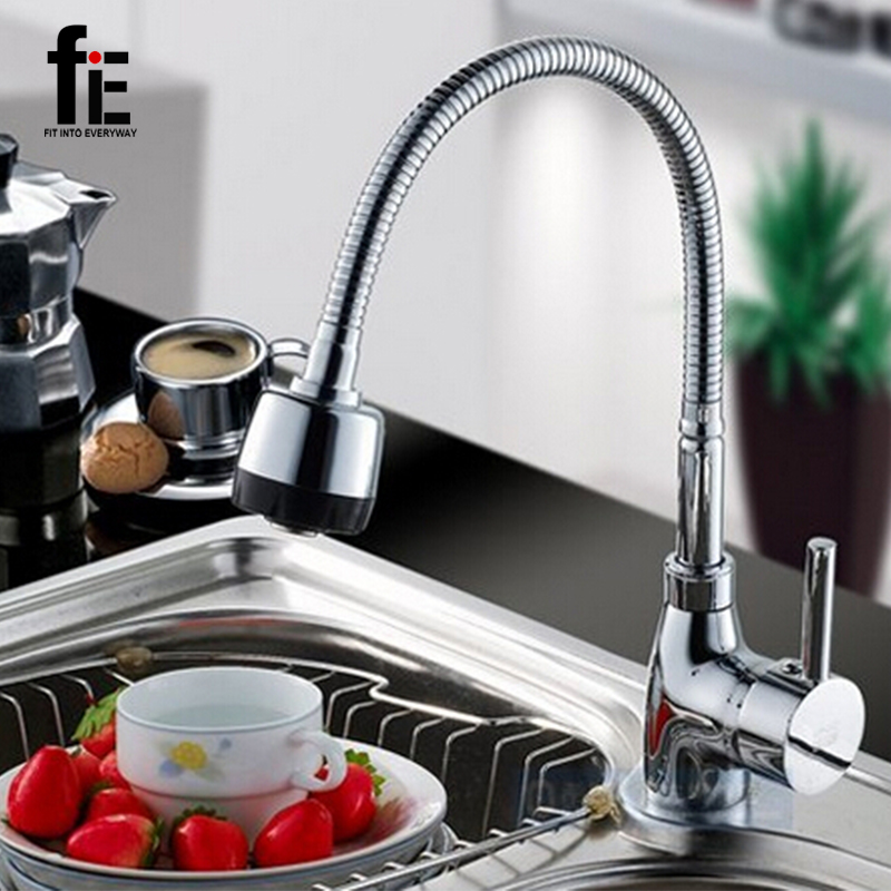 ФОТО Free Shipping Solid Brass Kitchen Mixer Cold and Hot Kitchen Tap Single Hole Water Tap Kitchen Faucet torneira cozinha