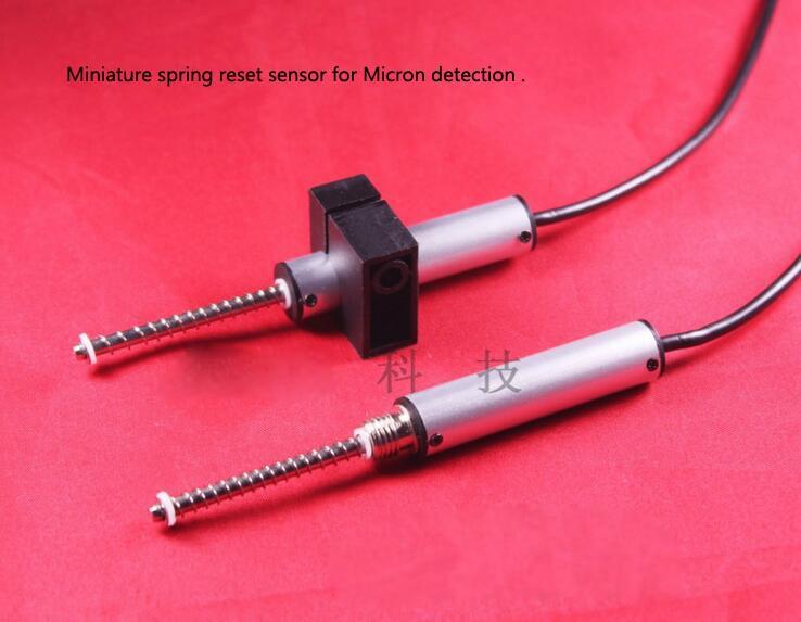 PM11 11MM diameter micrometer precision displacement sensor transducer for micron detection Miniature spring reset sensor