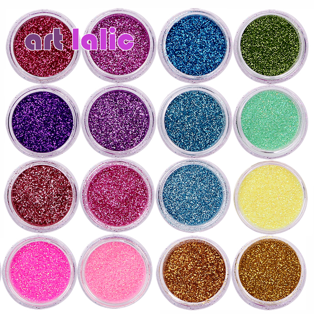 30 Pcs Nail Glitter Assorted Colors Nail Art Fine Glitters Powder Dust UV Gel Polish Acrylic Nail Tips Makeup Tools 1