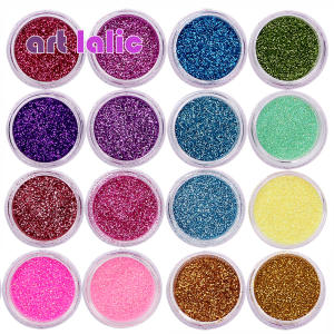 Makeup-Tools Nail-Tips Uv-Gel-Polish Fine-Glitters-Powder Acrylic Assorted-Colors Dust