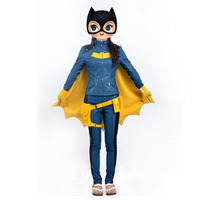 Batgirl Cosplay Costume Adult Women's Halloween Party Sexy Cosplay Clothes Custom Made