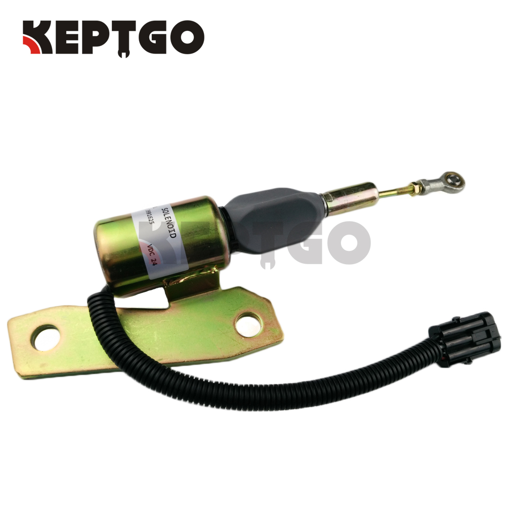 3991625 24V Fuel Shutoff Solenoid 3 Round Pins Connector For Cummins 6BT 59L SA-4959-24 5267132