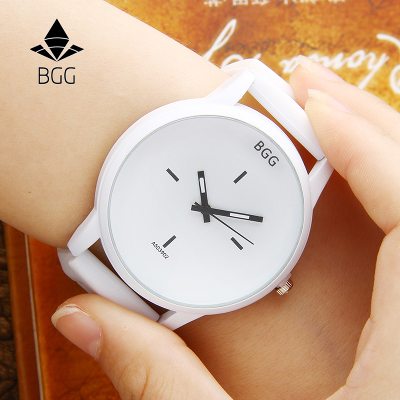 Hot Sale Fashion Big Dial Wrist Watches 2016 New Design Creative Quartz Watch Men Women Lover Clock With Silicone Strap White mige 20017 new hot sale top brand lover watch simple white dial gold case man watches waterproof quartz mans wristwatches