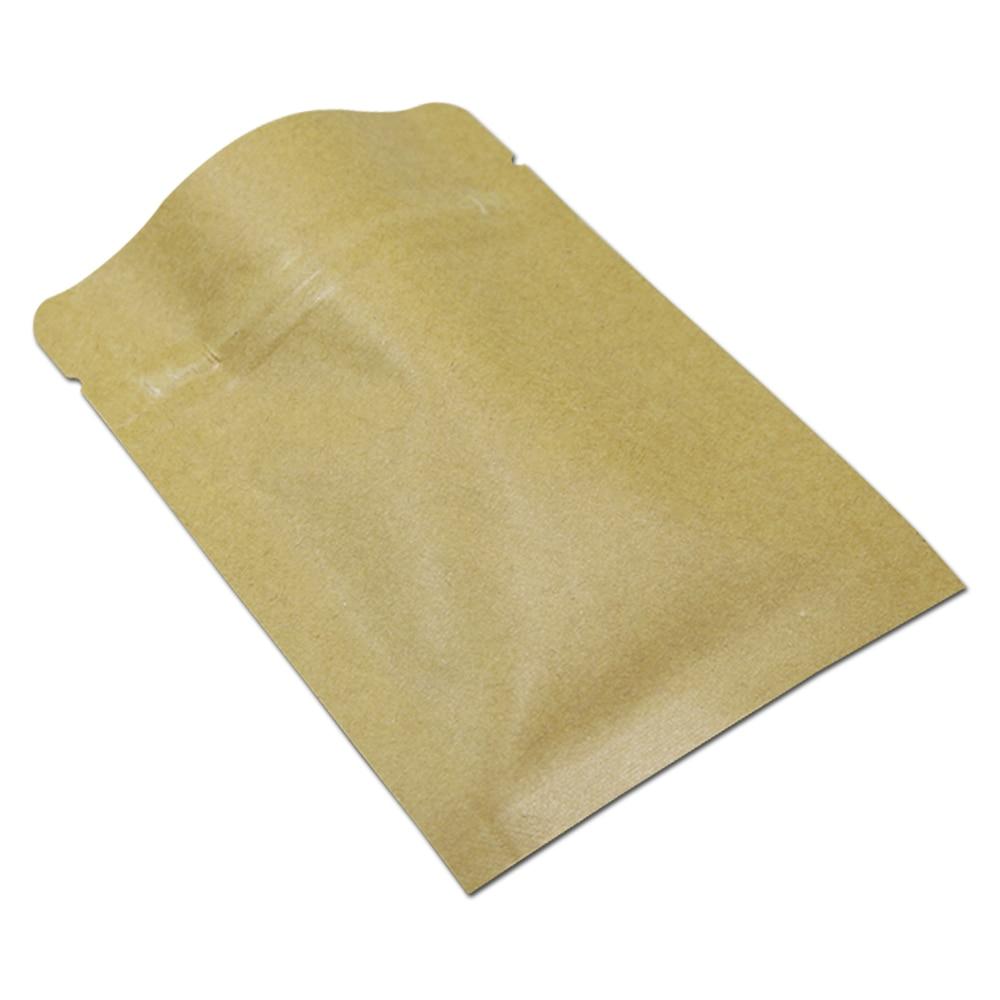 US $27 0 |8x11cm 200Pcs/lot Reclosable Kraft Paper Mylar Foil ZipLock  Package Bag Heal Seal Kraft Paper Aluminum Zipper Food Packing Pouch-in  Storage