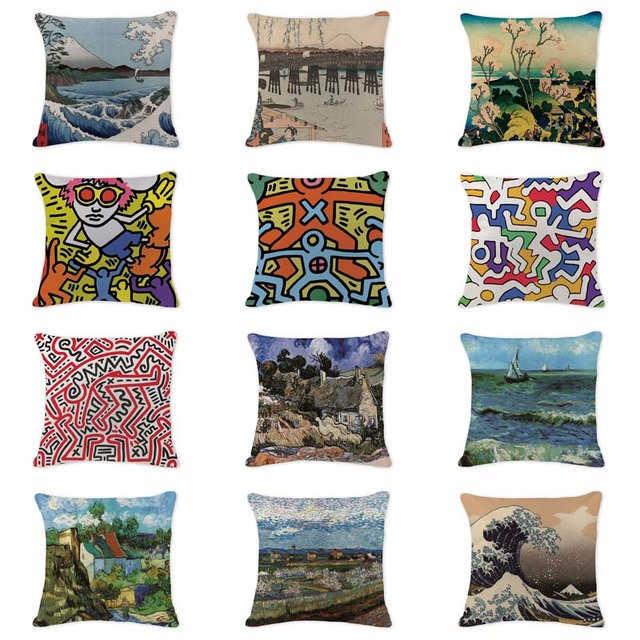 Prime Us 3 39 32 Off Elegant Cushion Cover Oil Printed Air Abstract Pillowcases Sofaseat Large Cotton Linen Home Office Furniture Ukiyo E Kussenhoes In Download Free Architecture Designs Embacsunscenecom