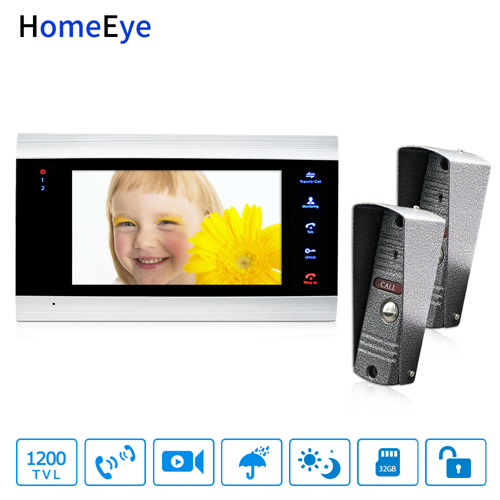 HomeEye 7 Video Door Phone Intercom Door Bell 2-1 Access Control System Motion Detection Multi-languages OSD Menu Video RecordHomeEye 7 Video Door Phone Intercom Door Bell 2-1 Access Control System Motion Detection Multi-languages OSD Menu Video Record