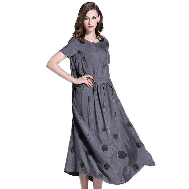 Satin Copper Silk Dress Women's Dresses