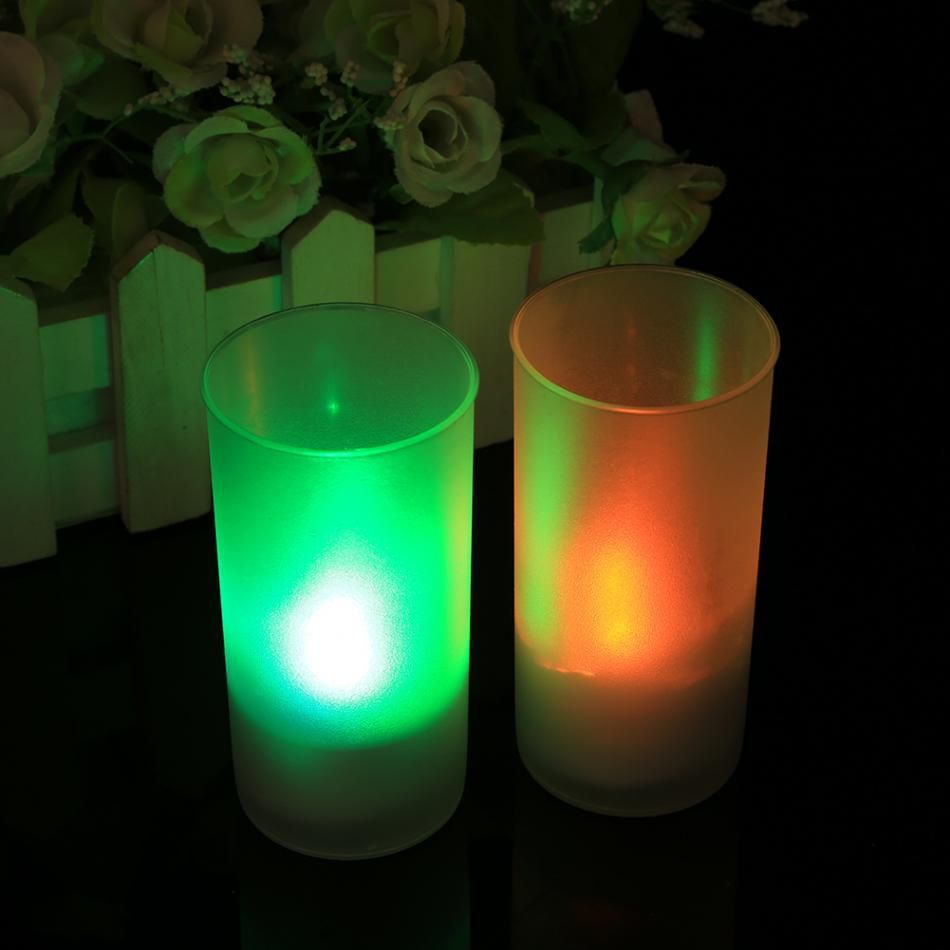 LED Lamp Electronic Control Candle Night Light For Home Sound Sensor Control Flicker Home Party Decoration Flameless