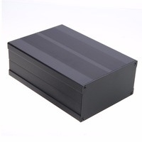 Aluminum Enclosure Box Black Circuit Board Electronic Project Instrument Case 150x105x55mm