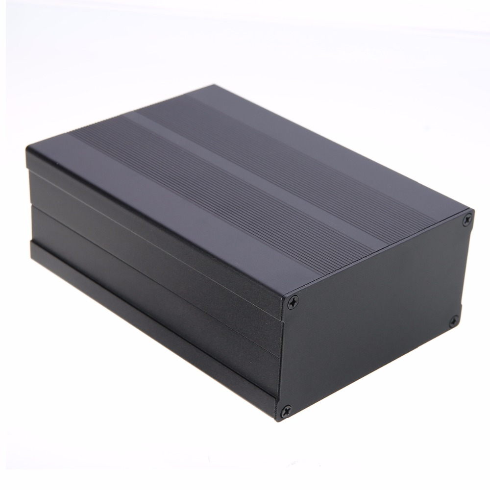 Aluminum Enclosure Box Black Circuit Board Electronic Project Instrument Case 150x105x55mm black electronic project case aluminum circuit board enclosure box 150x105x55mm with screws