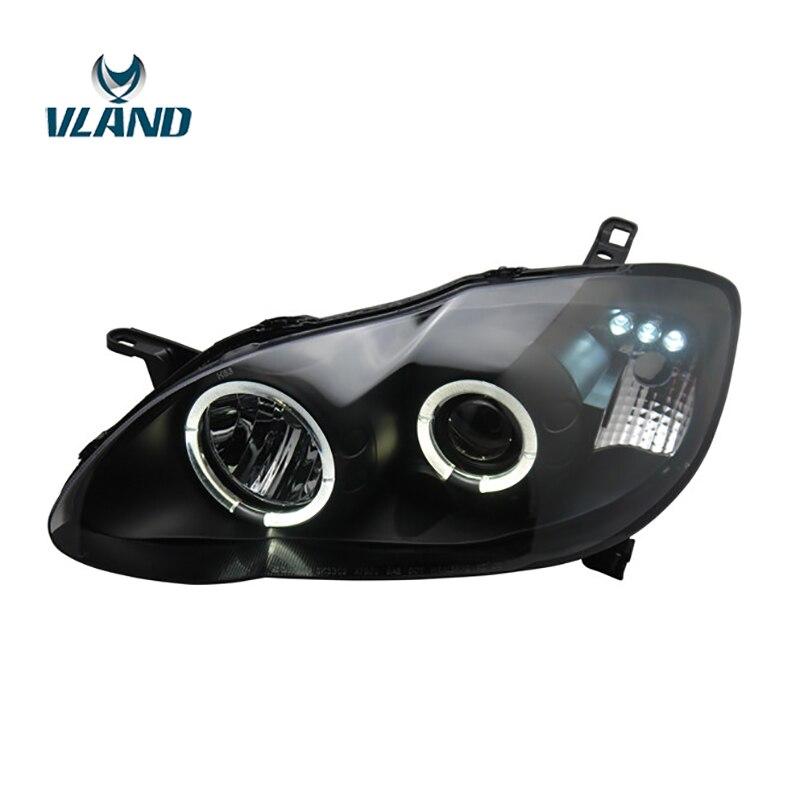 VLAND фабрика для автомобиля фара для Corolla светодиодный фара 2004 2005 2006 2007 2008 2009 Corolla головного света DRL H7 ксеноновая лампа