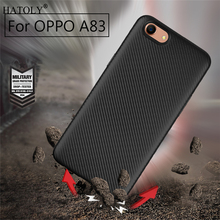 HATOLY Cover Oppo A83 Case Oppo A83 Soft Rubber Silicone Armor Protective Phone Shell Bumper Phone Case for Oppo A83
