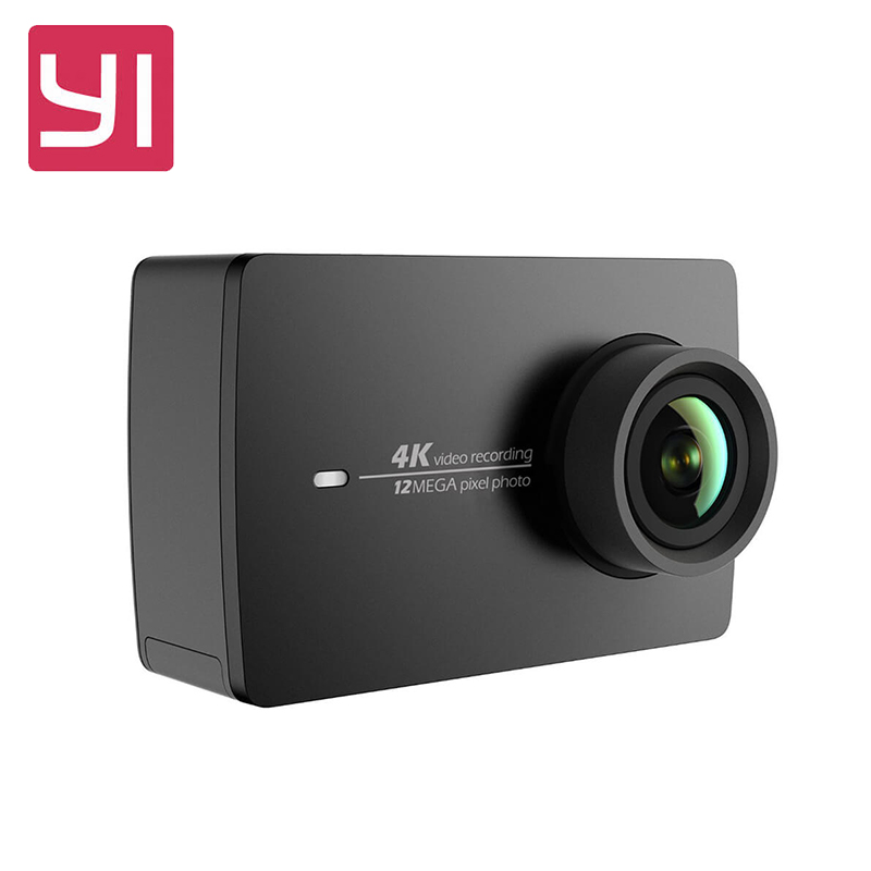 [International Edition] Xiaoyi YI 4K Action HD Camera 2 II 2.19 Retina Screen IMX377 12MP 155 Degree EIS LDC Sport Camera [hk stock][official international version] xiaoyi yi 3 axis handheld gimbal stabilizer yi 4k action camera kit ambarella a9se75 sony imx377 12mp 155‎ degree 1400mah eis ldc sport camera black