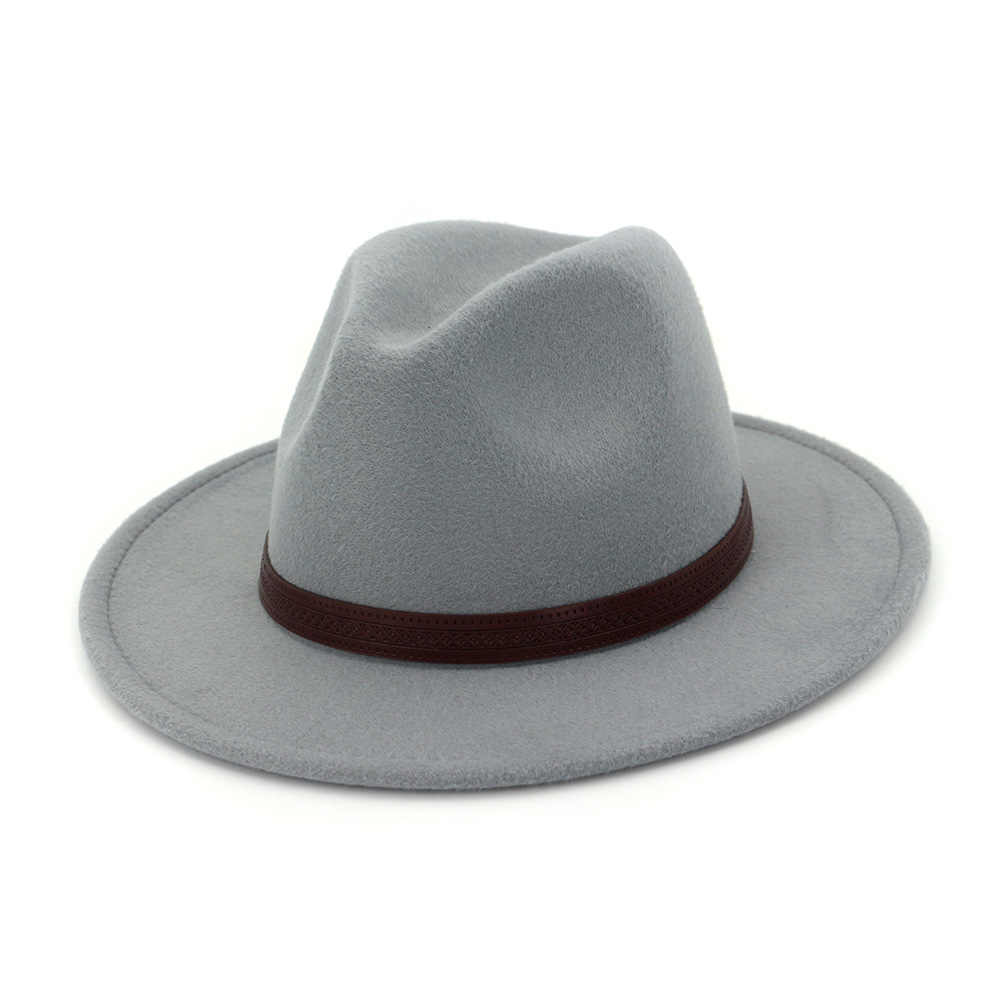 ... Zgllywr Fedoras Felt Hat Big Brim Hats For Women Men British Style  Vintage Church Hats Lady ... da6085555728