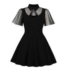 Женское Сетчатое платье с оборками на рукавах винтажное рубашка