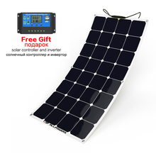 ALLPOWERS Solar Panel 18V 100W Semi Flexible Panels in Parallel Series for vehicle, marine,yacht,RV, boat,wood cabin etc.