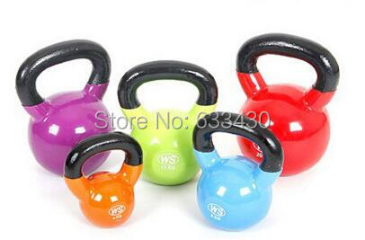 Electrostatic Kettle Bell Professional Fitness Lifting Dumbbell Exercise Training Equipment Free Shipping casing