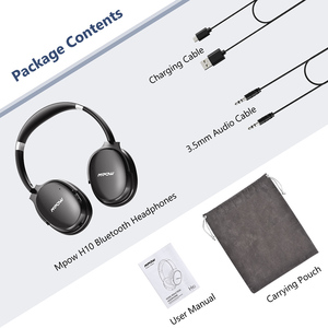 Image 5 - Mpow H10 Active Noise Cancelling Bluetooth Headphone HiFi Stereo ANC Wireless Wired Foldable Headset For PC Tablet PK Mpow H5