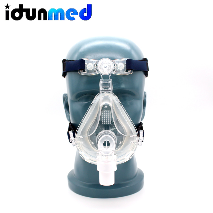 idunmed CPAP Full Face Mask With Forehead Adjustable Strap Clips For Mouth Nose Sleep Apnea Anti