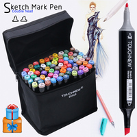 Touchnew 30 40 60 80 168 Colors Markers Sketch Set Dual Head Art Sketch Marker Pen