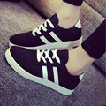 2016 women shoes new spring and summer in Europe and America zapatos mujer to help low tricolor tenis feminino canvas shoes D017