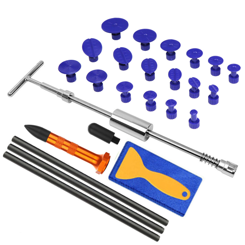 PDR Tools Paintless Dent Repair Kit Dent Puller Kit Dent Removal Tap Down Pdr Puller Reverse Hammer Car Body Repair Tools