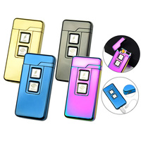 Novelty Arc Dual Purpose Electric Cigarette Lighter Windproof Lighters USB with Double Touch Induction Ignition