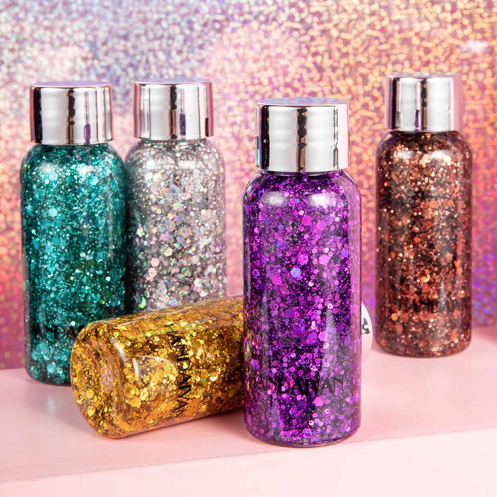 Olho glitter gel prego cabelo rosto corpo sereia holograma flash coração solto líquido lantejoulas creme glitter decoração festa festival