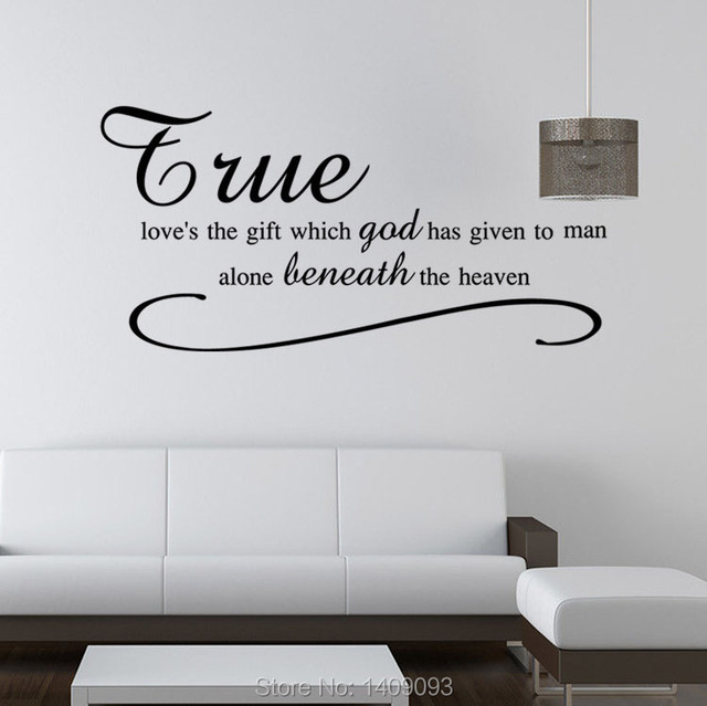 Fashion Wall Decals Vinyl Sticker Home Decor Quotes True Love God