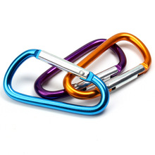 Outdoor carabiner quick-hook lock hook keychain equipment aluminum alloy multi-function small hanging buckle 10 Pack стоимость