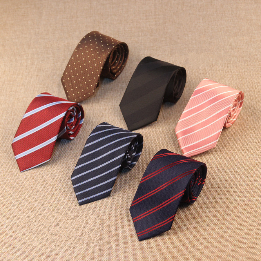 7cm Paisley Stripes Plaid Dots Neck Ties For Men Classics Business High Weft Density Necktie Luxury Wedding Accessories