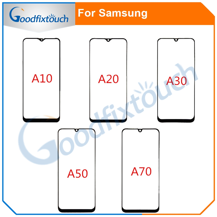 20pcs For Samsung Galaxy A10 A20 A30 A50 A70 Touch Screen Front Glass Panel LCD Outer Display Lens A30 A50 A70 Front Glass